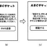 ショートメールでSMS認証する電子チケットシステムの特許発明(ローソン)を紹介